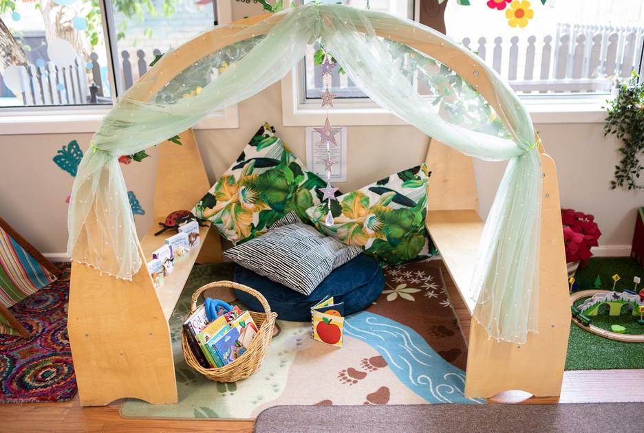 Babies room cosy reading area