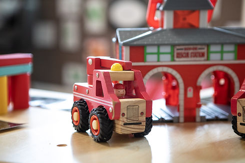 Doncaster East Daycare and Kindergarten - long care centre for babies and nursery children in Doncaster, Blackburn - red fire engine toy.