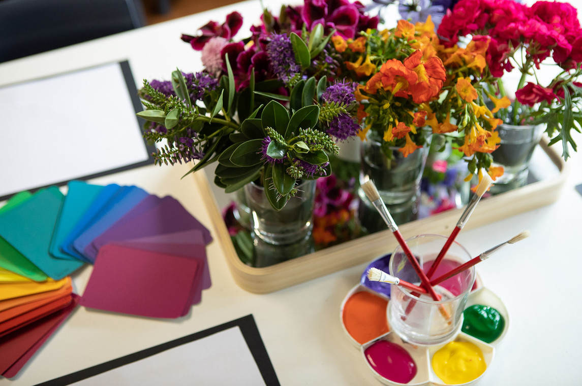 Art activity at Doncaster East Daycare & Kindergarten servicing the areas of Blackburn, Mitcham and Templestowe.