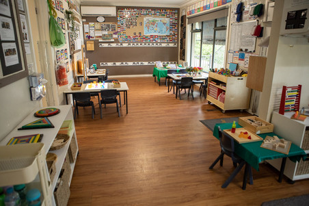 Kindergarten room tables at Doncaster East Daycare