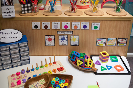 Numeracy activity in the Kindergarten room at Doncaster East Daycare servicing the areas of Blackburn, Mitcham and Templestowe.