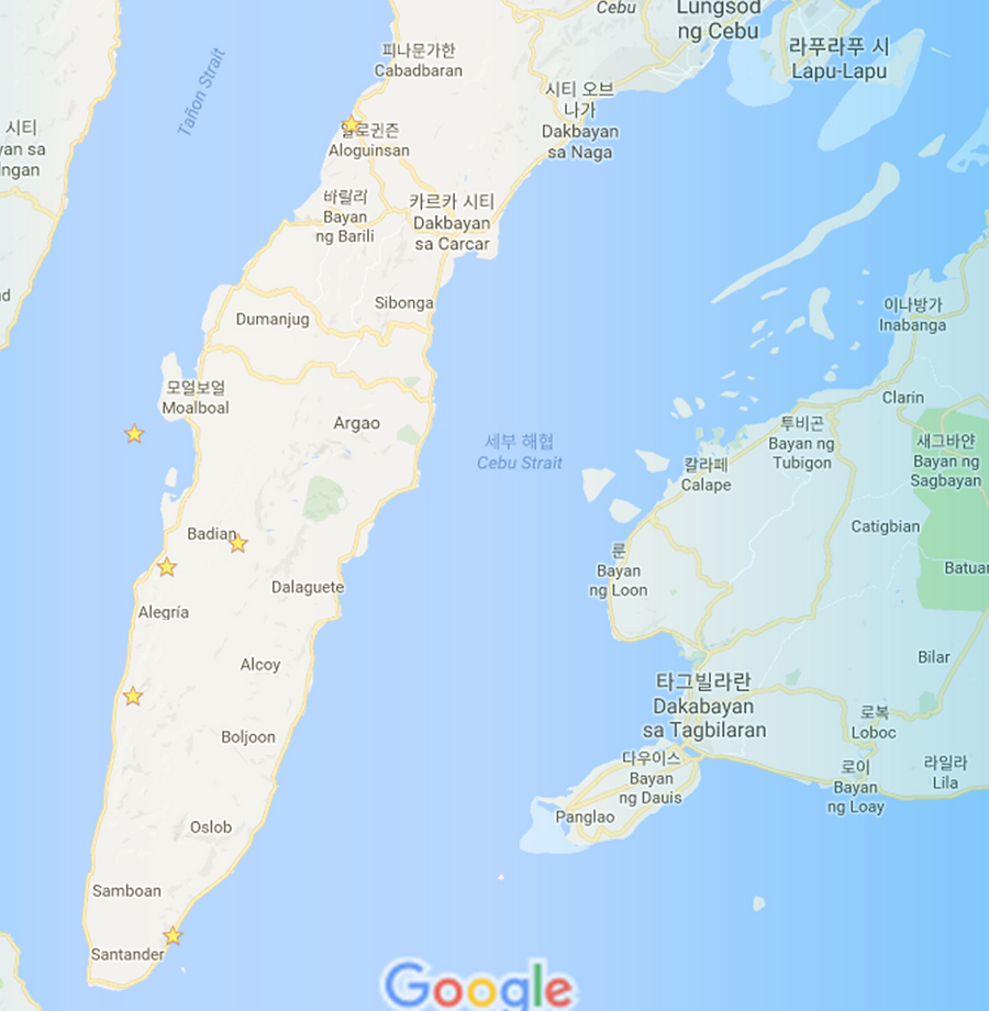 세부자유여행 로컬페이지투어 - 오슬롭 캐녀닝 모알보알