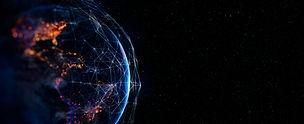 Communication technology for internet business. Global world network and telecommunication