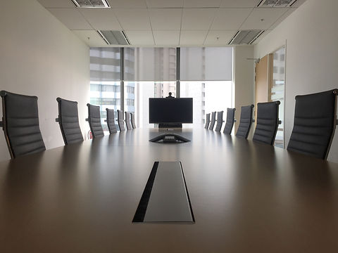 Interior of modern meeting room or confe