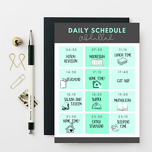Personalised Daily Schedules
