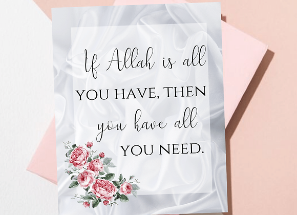 Allah is All You Need