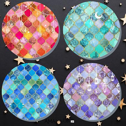 Moroccan Lanterns- Round Coasters