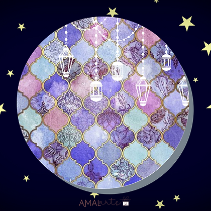 Moroccan Lanterns- Coasters Singles