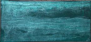 Grüner Silikonfluss, Silikone 2012, 62x132cm