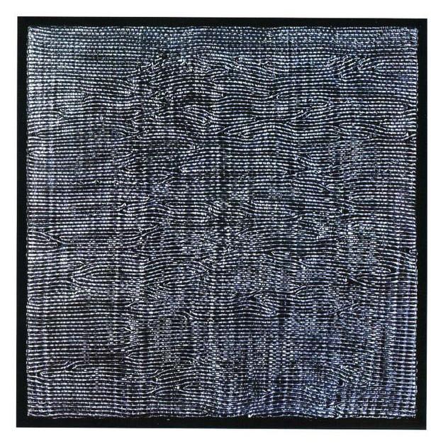 Schwarzes Quadrat, Silikone, 1994, 91x91cm