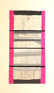 Strip-Cut-Collage, work 77, 2012, 137x68cm