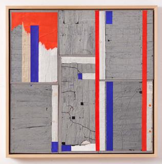 Strip-Cut-Collage, Nr. 2, 2016, 97x97,5cm