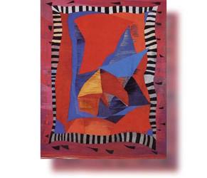Bildteppich: Komposition im schwarzweißen Rahmen, 1988, 245x204cm