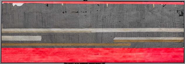 Strip-Cut-Collage,work 3, Pink, 2011, 300x100cm