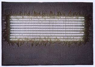 "Silikone ""Neonfeld"", 2001, 68x98cm"