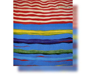 Bildteppich: Komposition mt Streifen IV, 1990, 206x192cm