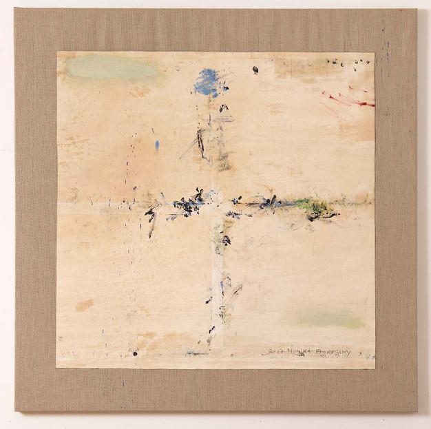 Oil-Cut Nr. 28, 2017, 151x151cm