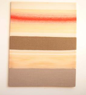 """Silikone """"Rot mit brauner Flächenteilung"""", 2018, 162x128cm"""