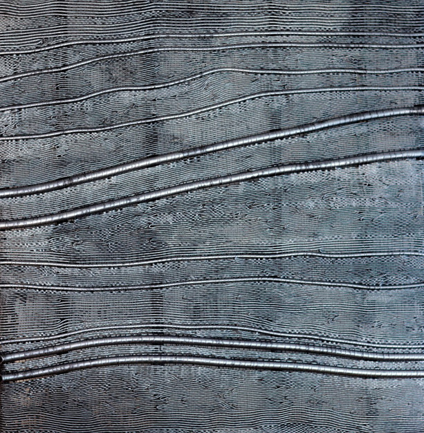 "Silikone, ""Diche schwarze Röhren"", 2010, 200x200cm"