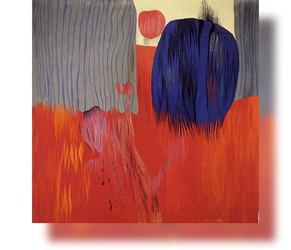 Bildteppich: Blaue Wolke, 1984, 190x185cm
