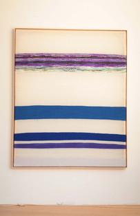 """Silikone """"mit violetter Strömung"""" 2018, 167x137cm"""