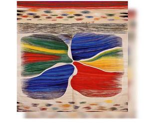 Bildteppich: 5 Kontinente, 1988, 336x321cm