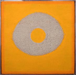 "Silikone ""Kornkreis"", 2003, 104x104cm"