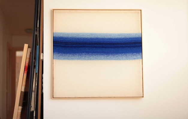"Silikone ""Blauer Fluss 2"", 2018, 132x132cm"