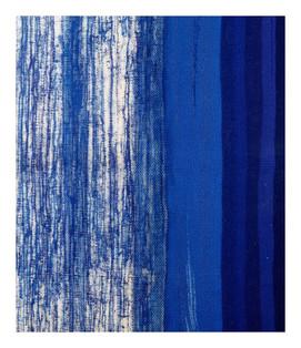 """Hybrid-Silikone """"Blau"""", 1993, 168x122cm"""