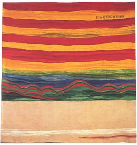 Bildteppich: Wie Wellen im Winde, 1989, 247x243cm