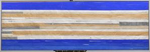 Strip-Cut-Collage, work 1, Blau, 2011, 300x100cm_
