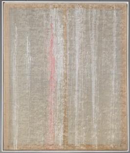 1. Transfusionsbild überhaupt, 1993, 195x165cm, Temperafarbe, Silikonschläuche verwoben