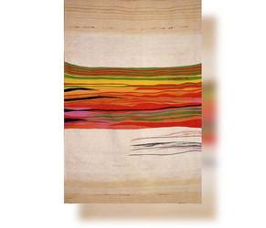Bildteppich: Komposition Streifen im weißen Feld, 1987, 280x200cm