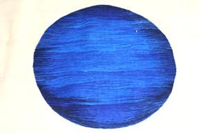 Detail Bildteppich, Blaue Kugel, 1990, 1