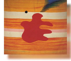 Bildteppich, rote Form, 1990, 220x184cm