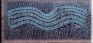"""Silikone """"Lichtwellen"""", 2003, 70x139cm"""