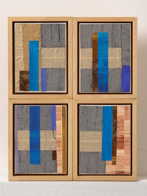 Strip-Cut-Collage, Nr. 1, 2016, 56x44,5cm