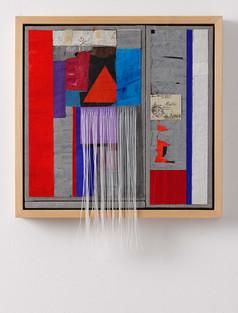 Strip-Cut-Collage mit Fransen Nr. 1, 2016, 52,6x51cm