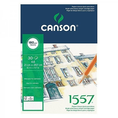 Canson 1557 A3 - 30 sheets, 180 g/mp-spiral.