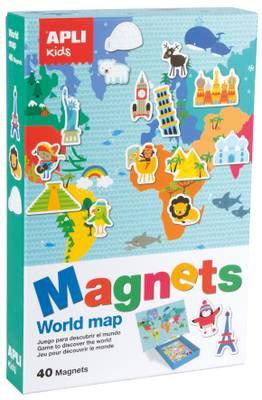 Apli Kids - World Map Magnets