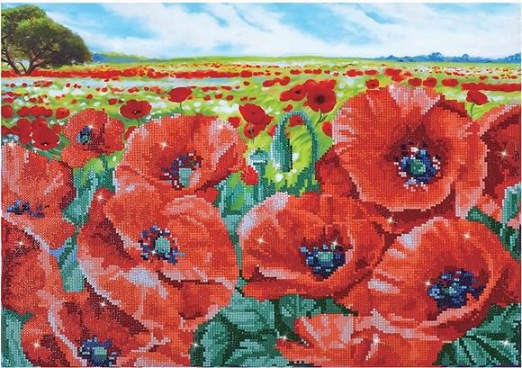 Diamond Dotz Red Poppy Field