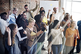 People Clapping healthy office workplace wellness