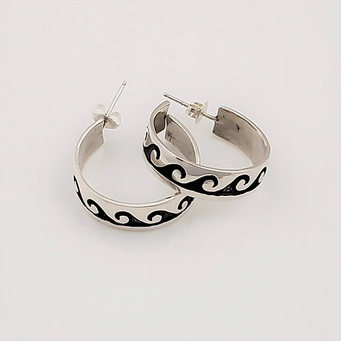 Water Wave Hoop Earrings