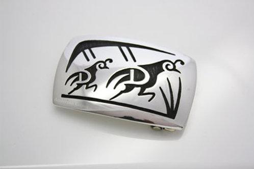 """Hopi Quail's Belt Buckle (1.5"""")"""