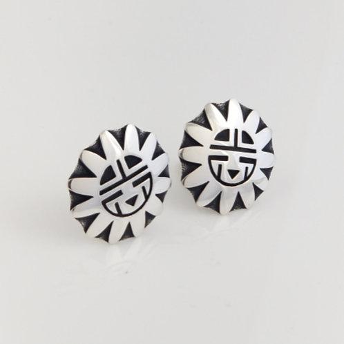 Sun God Clip On Earrings