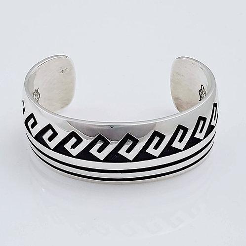 """Water Waves (3) 1"""" Bracelet Cuff"""