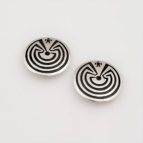 Man in the Maze Clip On Earrings