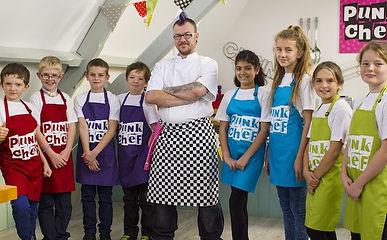 Punk Chef presenting Kids Challenge