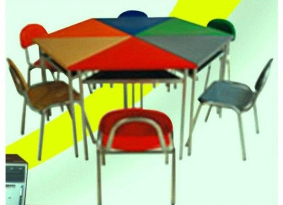 Juego hexagonal (1 mesa - 1 silla)