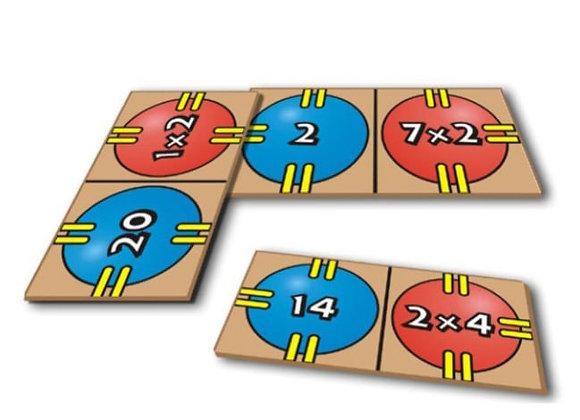Dominó infantil multiplicación